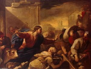 Luca Giordano - Expulsion of les changeurs de l Temple