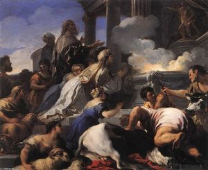 Luca Giordano - Les parents de Psyché offrir un sacrifice à Apollon