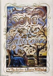 William Blake - Songs of Innocence (page de titre)