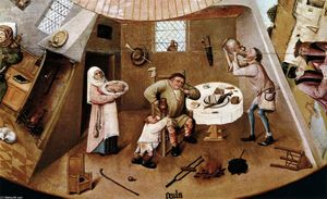Hieronymus Bosch - The Seven Deadly Sins (détail) (11)