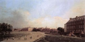 Giovanni Antonio Canal (Canaletto) - Londres: les anciennes Horse Guards de St James Park