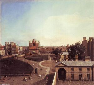 Giovanni Antonio Canal (Canaletto) - Londres: Whitehall et le jardin privé de Richmond House
