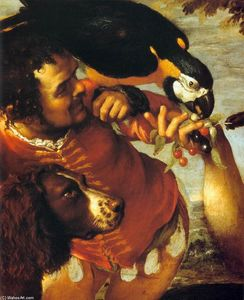 Agostino Carracci - Hairy Harry, Mad Pierre et minuscule Amon (détail)