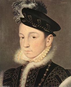 François Clouet - Portrait à of King Charles IX of France