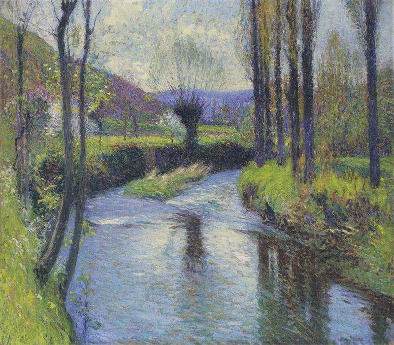 Le Saule (également connu sous le nom de The Willow Tree), 1910 de Henri Jean Guillaume Martin (1860-1860, France) | Reproductions De Peintures Célèbres | WahooArt.com