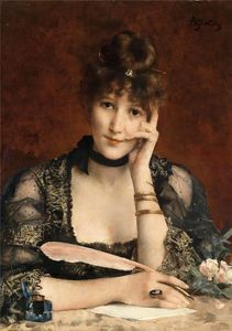 Alfred Stevens - le lettre