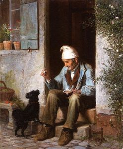 James Wells Champney - Le petit mendiant