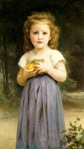 William Adolphe Bouguereau - fillette la tenue  pommes