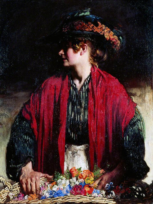 Lottie du paradis Marcher de William Newenham Montague Orpen (1878-1931, Ireland) | Copie Tableau | WahooArt.com