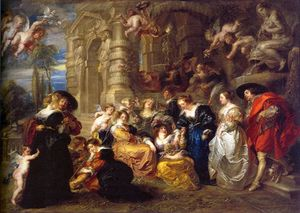 Peter Paul Rubens - amour jardin