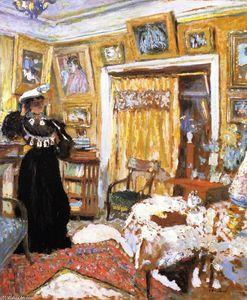Nu dans le salon ray huile sur panneau de edouard vuillard 1868 1940 france - Salon de the rue de rivoli ...