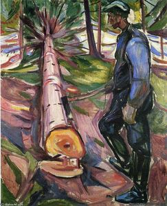 Edvard Munch - Le bûcheron