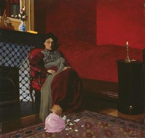 Felix Vallotton - Mme Vallotton et sa nièce, Germaine Aghion