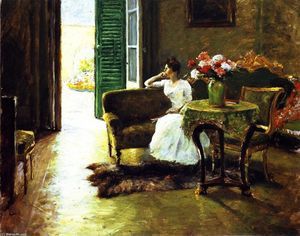 William Merritt Chase - mémoire : Dans le villa italienne