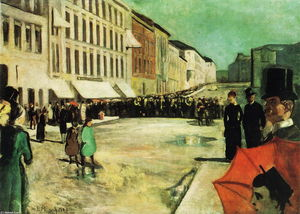 Edvard Munch - Le Military Band sur la rue Karl Johan