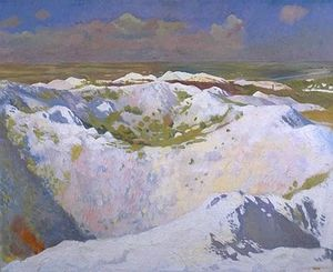 William Newenham Montague Orpen - Mines et de la route de Bapaume, La Boisselle