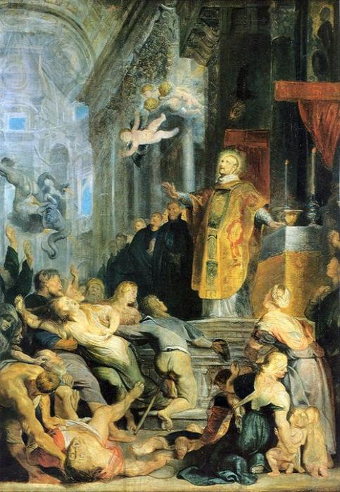 Miracle de St . ignace de loyola, 1618 de Peter Paul Rubens (1577-1640, Germany) | Copie Tableau | WahooArt.com