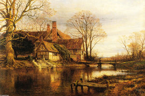 Benjamin Williams Leader - Un Moated Grange