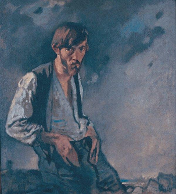 Homme de à l Ouest de William Newenham Montague Orpen (1878-1931, Ireland)