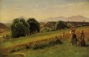 Jean Baptiste Camille Corot - Mornex Paysage
