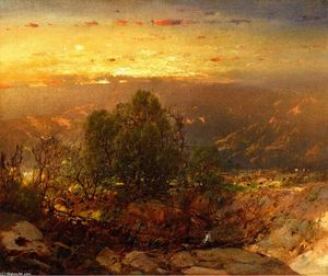William Louis Sonntag - mont Coucher du soleil