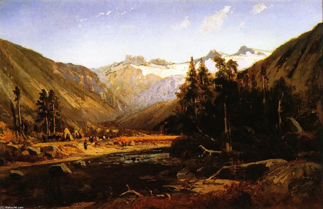 mont lyell , california sierra, huile sur toile de William Keith (1838-1911, Scotland)
