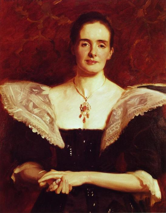 Mme . william russell cooke, 1895 de John Singer Sargent (1856-1925, Italy) | WahooArt.com