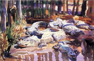 John Singer Sargent - Alligators Muddy