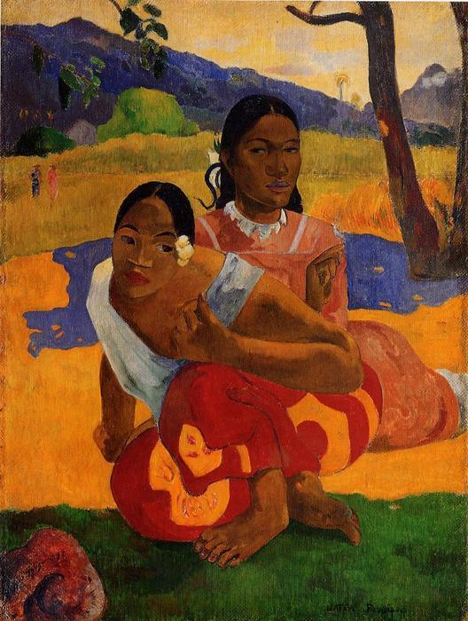 nafeaffaa ipolpo ( également connu sous le nom lorsque will you marry . ), 1892 de Paul Gauguin (1848-1903, France) | Reproductions D'art Paul Gauguin | WahooArt.com