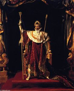 Jacques Louis David - Napoleon Je dans la sienne Imperial Robes