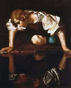Caravaggio (Michelangelo Merisi) - narcisse - (copie de tableau)