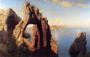 William Stanley Haseltine - Arche naturelle au  Corsaire