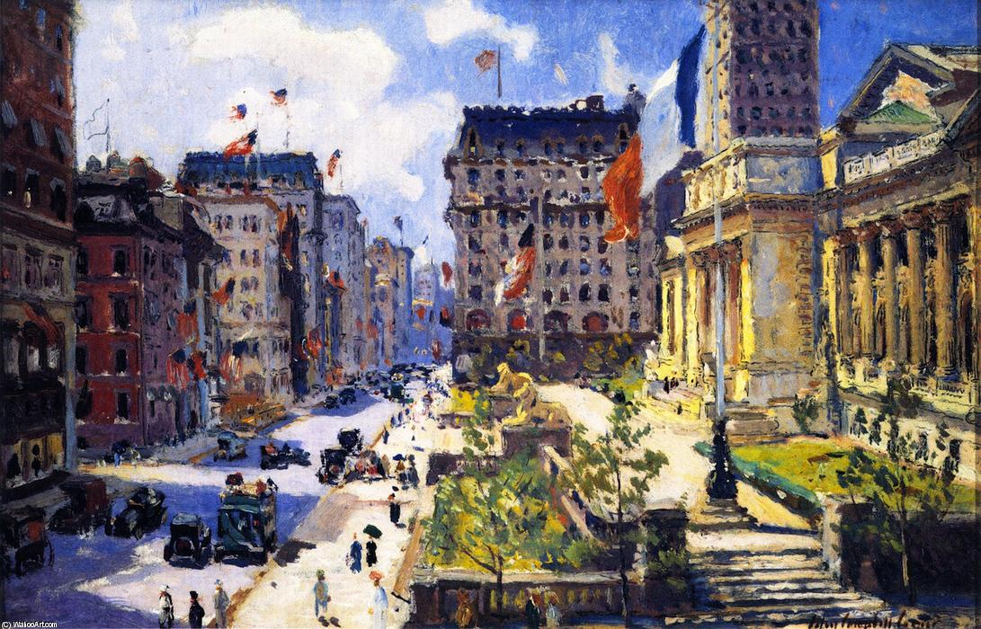 York Public Library, peinture de Colin Campbell Cooper (1856-1937 ...