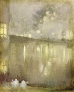 James Abbott Mcneill Whistler - Nocturne : Gris et or - Canal , Pays-bas