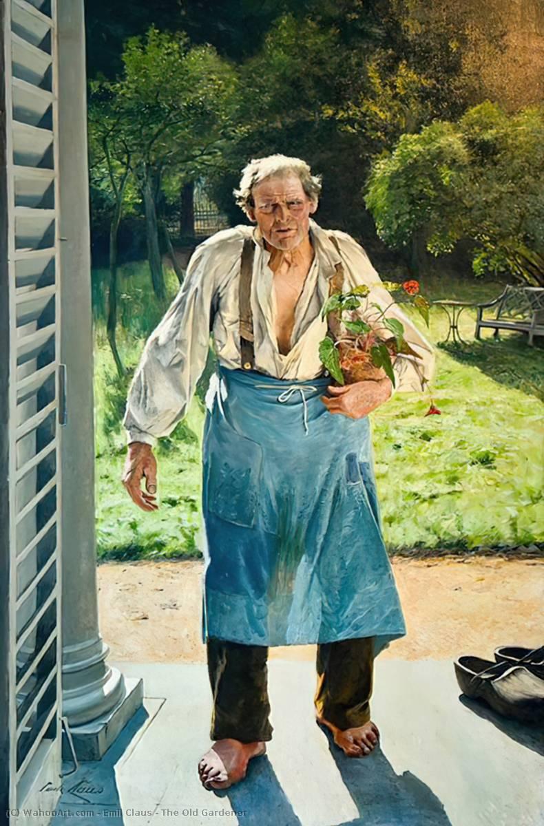 Le vieux jardinier huile sur toile de emil claus 1849 for Jardinier belgique