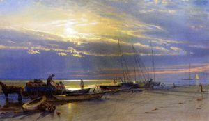 William Trost Richards - Sur le Inlet, Atlantic City, New Jersey