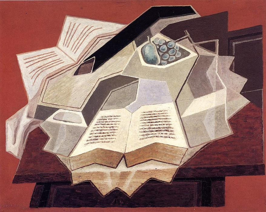 The Open Book, 1925 de Juan Gris (1887-1927, Spain) | Reproductions D'œuvres D'art Juan Gris | WahooArt.com