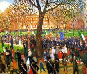 William James Glackens - Grande parade washington carré