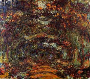 Claude Monet - le chemin sous l rose arches , Giverny
