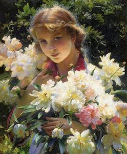Charles Courtney Curran - Pivoines