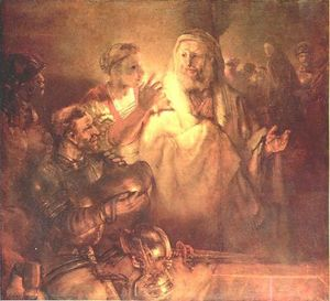 Rembrandt Van Rijn - peter dénonciation jésus christ