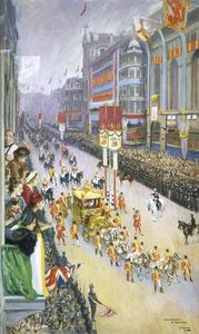 John Lavery - Piccadilly , London , 12 May 1937