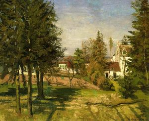 Camille Pissarro - The Pine Trees of Louveciennes ( aussi connu as The Sapin Trees of Louveciennes )