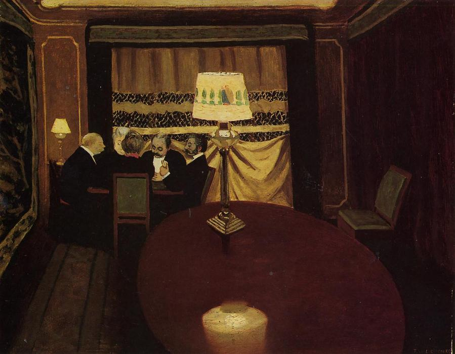 le poker jeu , 1902 de Felix Vallotton (1865-1925, Switzerland) | Copie Tableau | WahooArt.com