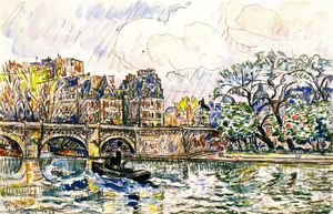 Paul Signac - Le Pont Neuf, Paris