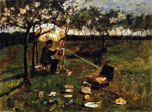 James Guthrie - Poppleton , Le Artist au travail