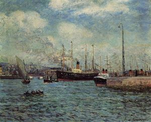 Maxime Emile Louis Maufra - le port of Havre
