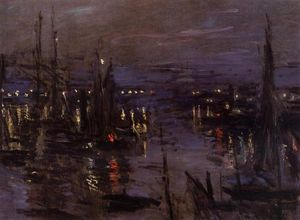 Claude Monet - Le Port du Havre, Night Effect