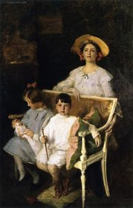 William Merritt Chase - Groupe Portrait (Dorothy, Helen et Bob)