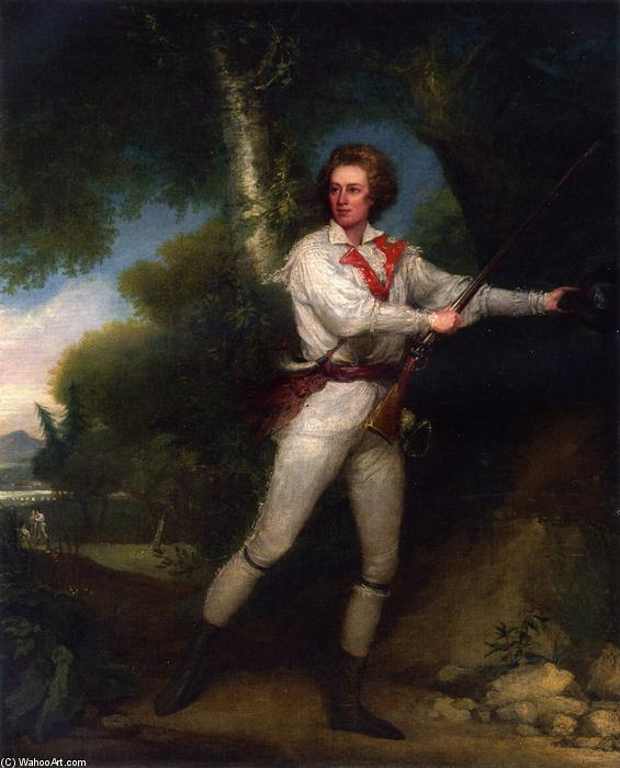 portrait de capitaine  samuel blodget à rifle  robe , huile sur toile de John Trumbull (1756-1843, United Kingdom)